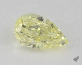 1 carat fancy light yellow
