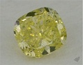 fancy greenish yellow cushion cut