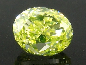 fancy intense green yellow oval diamond
