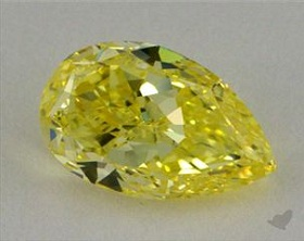 fancy intense yellow pear diamond