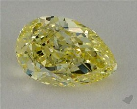 fancy yellow pear shaped diamond