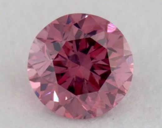 small fancy pink round brilliant