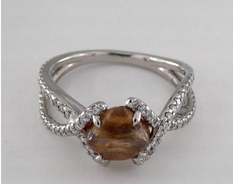 unity brownish orange rough diamond