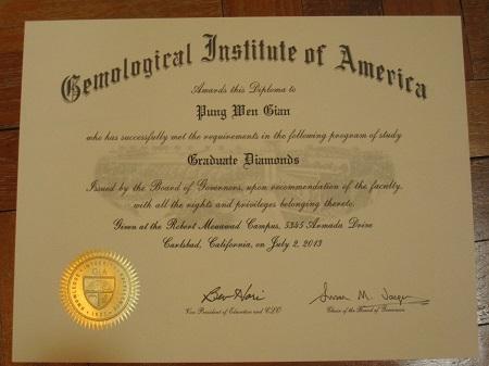 gemological institute of america certification